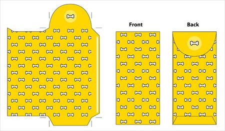Chinese New Year yellow envelope. Celebrate year of the dog. Illustration