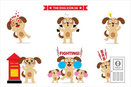 dog comic Illustration