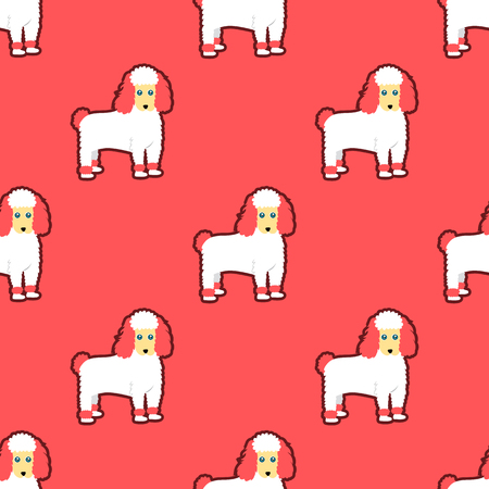 Poodle seamless pattern Vettoriali