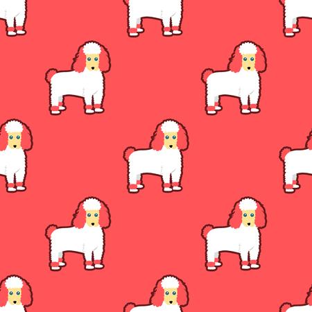 Poodle seamless pattern Stock Illustratie