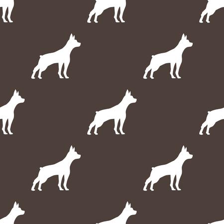 dog seamless pattern Stock Illustratie