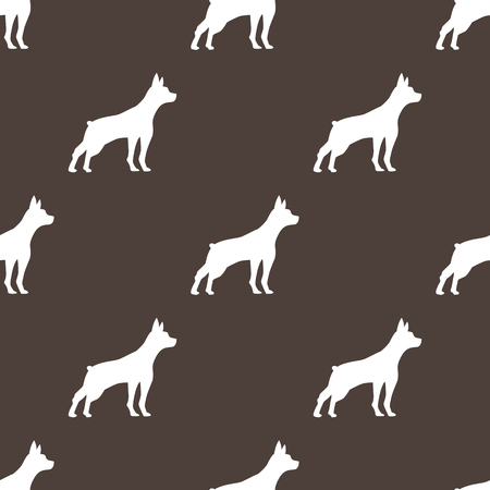 dog seamless pattern Vectores