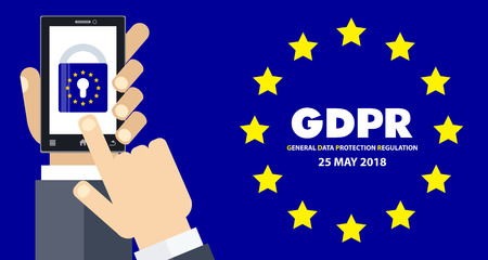 GDPR General Data Protection Regulation Business Internet Technology Concept