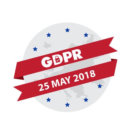 EU General Data Protection Regulation. eu gdpr vector illustration Vettoriali