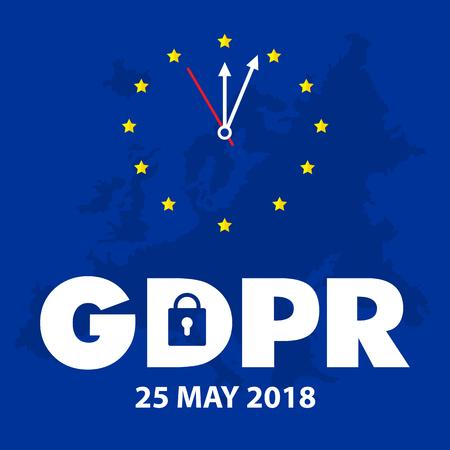 EU General Data Protection Regulation. eu gdpr vector illustration Illustration