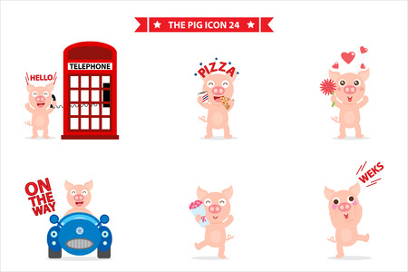 pig character Illustration