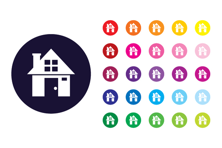 House sign icon. House color symbol. 向量圖像