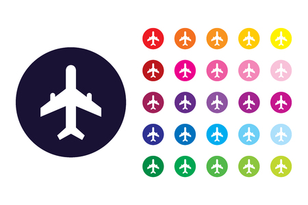 Aeroplane sign icon. Aeroplane color symbol.