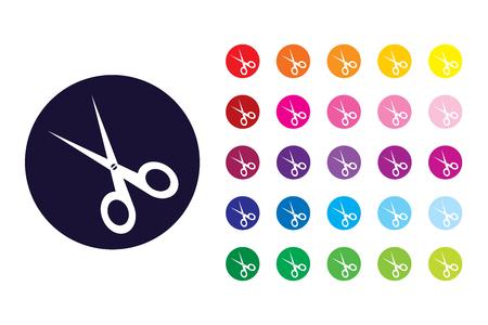Scissor sign icon. Scissor color symbol.