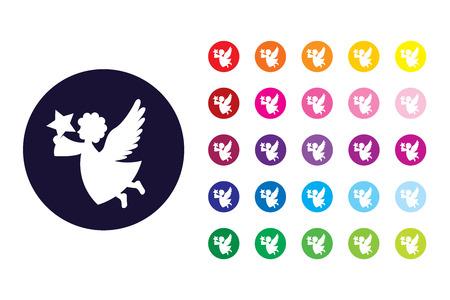 Angel sign icon. Angel color symbol.