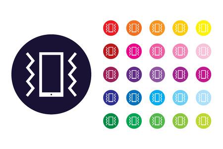 Vibrate sign icon. Vibrate color symbol.