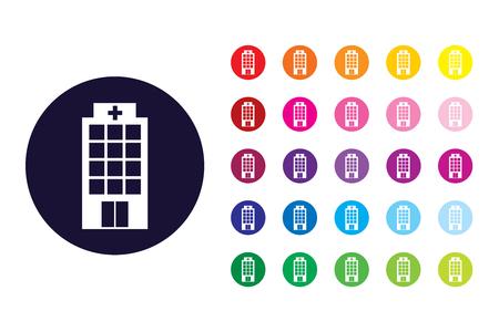 Hospital sign icon. Hospital color symbol.