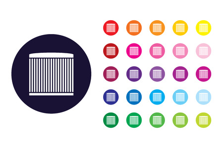 Air filter element sign icon. Air filter element color symbol. Ilustrace