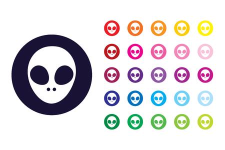 Alien sign icon. Alien color symbol.