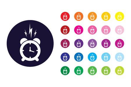 Wake up sign icon. Wake up color symbol.