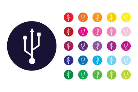 USB sign icon. USB color symbol.
