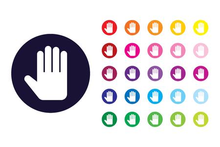 Hand sign icon. Hand color symbol. Ilustração