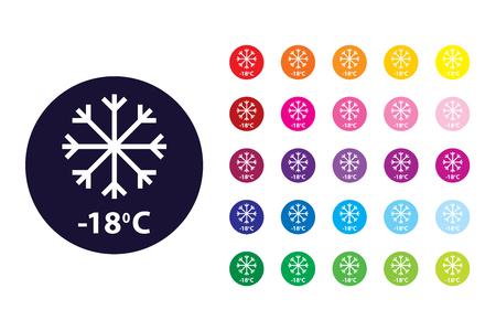 Cold sign icon. Cold color symbol.