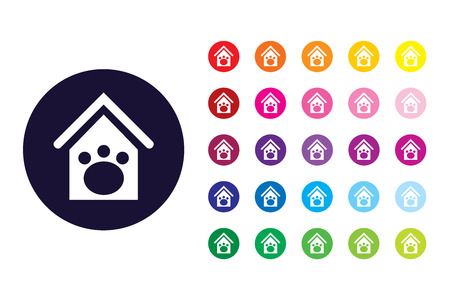 Dog house sign icon. Dog house color symbol.