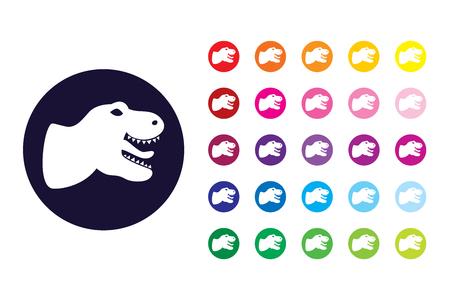 T-rex sign icon. T-rex color symbol. Illustration