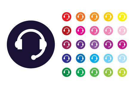 Headset sign icon. Headset color symbol. Stock Illustratie