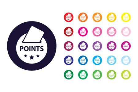 Redeem points sign icon. Redeem points color symbol.