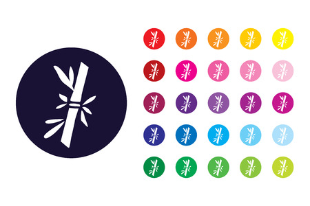 Bamboo sign icon. Bamboo color symbol. 向量圖像