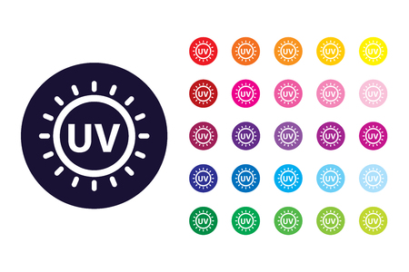 UV light sign icon. UV light color symbol.