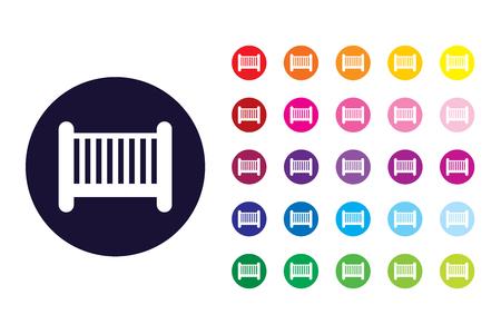 Cot sign icon. Cot color symbol.