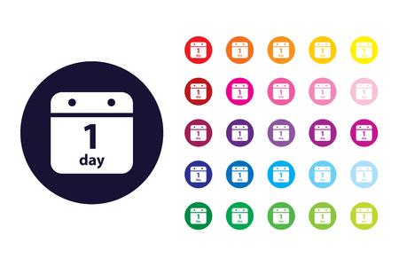 Calendar sign icon. Calendar color symbol.