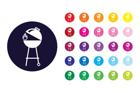 Barbecue sign icon. Barbecue color symbol.