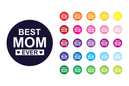 Best mom sign icon. Best mom color symbol.