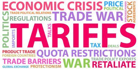 Trade war, USA versus China. America-China tariff business global exchange international.