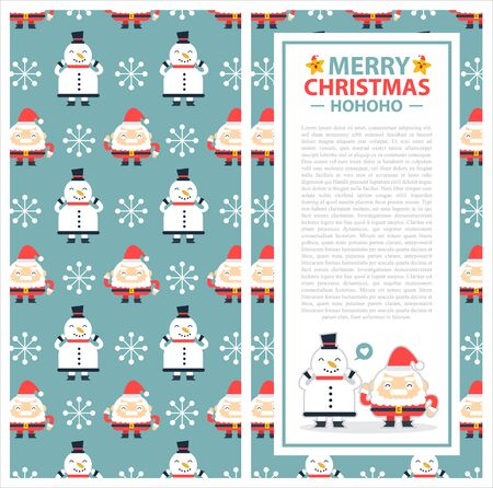 Christmas invitation card template.