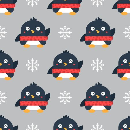 Penguin seamless background.