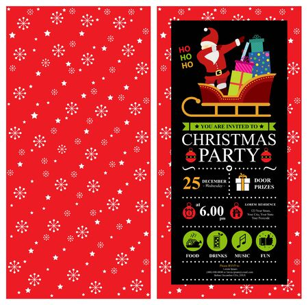 Christmas invitation card design.
