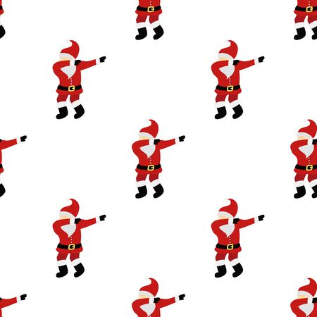Dabbing Santa Claus seamless background. Banque d'images - 129906699