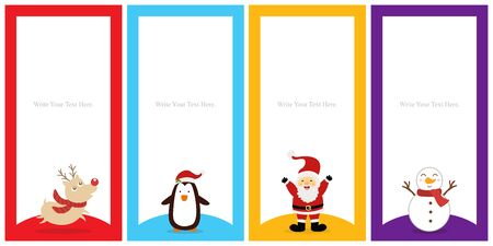 Christmas template card sets design.