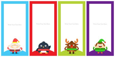 Christmas card poster template.