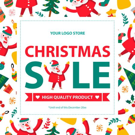 Christmas sale card ads.