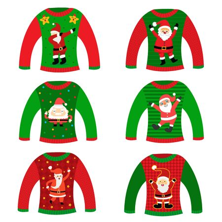 Christmas ugly sweater party icon.