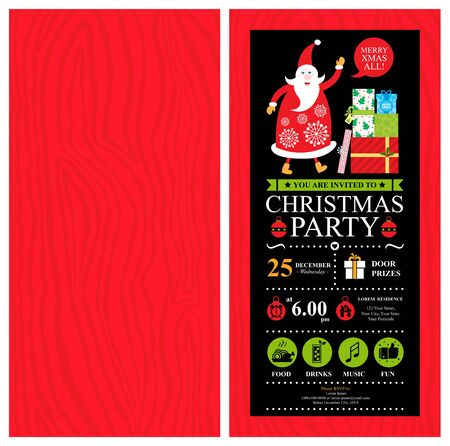 Christmas card invitation template.