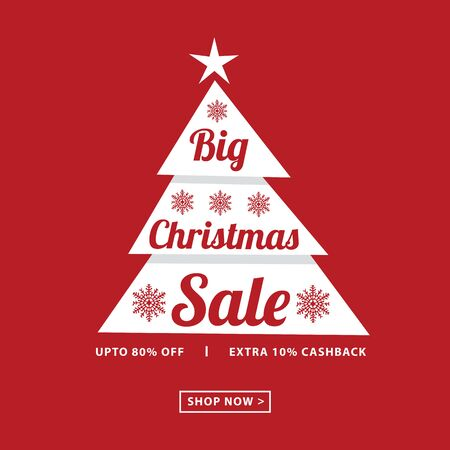 Christmas big sale card poster.