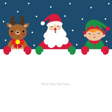 Christmas card invitation template.