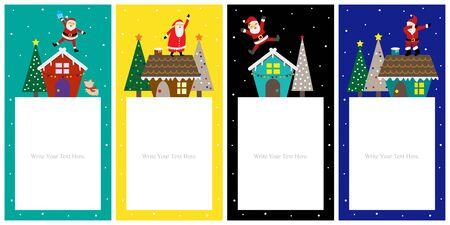 Christmas template card sets design. 版權商用圖片 - 133335578
