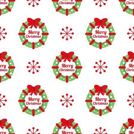 Christmas wreath seamless background.