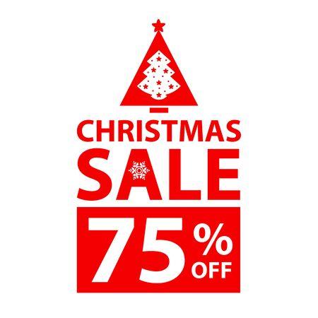 Christmas big sale card poster.