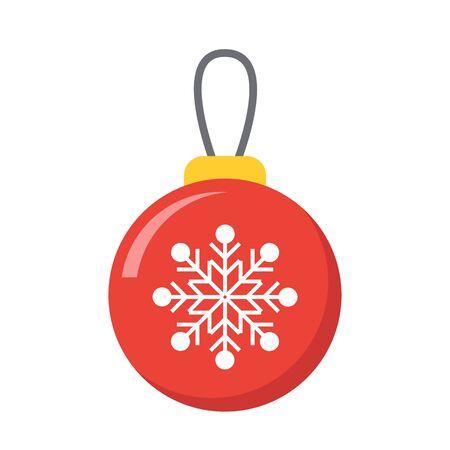 Christmas bulb icon. Stock Illustratie