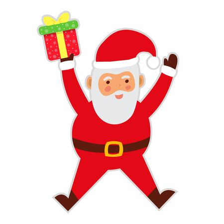 Happy Santa Claus illustration. 向量圖像
