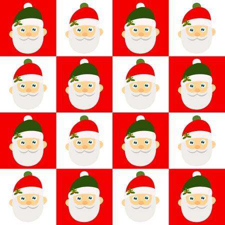 Santa Claus seamless background. Stock Illustratie